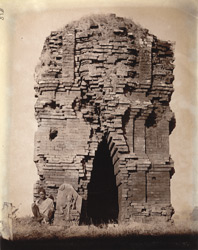 Ruins of a brick temple, with statue of Karttikeya, Dulmi, Manbhum District